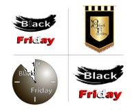 Black Friday está detrás ilustración del vector