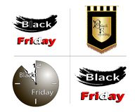 Black Friday está para trás ilustração do vetor