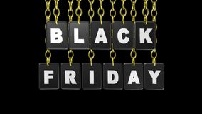 Black Friday etiketter, video animering stock illustrationer