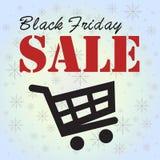 Black Friday försäljning i vagnen Arkivfoton