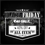 Black Friday försäljning på bokehbakgrund Royaltyfria Foton