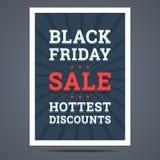 Black Friday försäljningsaffisch också vektor för coreldrawillustration Royaltyfri Foto