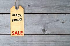 Black Friday försäljningsetikett royaltyfri bild