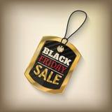 Black Friday försäljningsetikett Arkivfoto