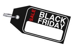 Black Friday försäljningsetikett framförande 3d stock illustrationer