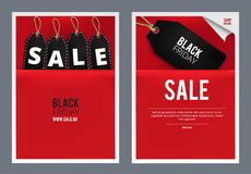 Black Friday försäljningsmall Royaltyfri Fotografi