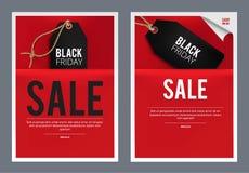 Black Friday försäljningsmall Arkivfoto
