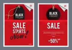 Black Friday försäljningsmall Royaltyfria Foton