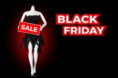 Black Friday försäljningsskyltdocka royaltyfri illustrationer