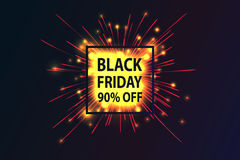 Black Friday. Fireworks discounts. Royalty Free Stock Photography