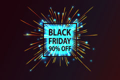 Black Friday. Fireworks discounts. Stock Photo