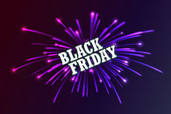 Black Friday. Fireworks discounts. Stock Image