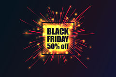 Black Friday. Fireworks discounts. Stock Images