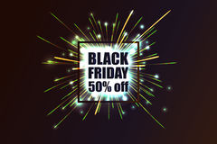 Black Friday. Fireworks discounts. Stock Photography
