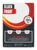 Black Friday Flyer, Banner, Poster with modern design royalty free stock photography