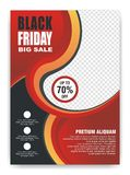 Black Friday Flyer, Banner, Poster with modern design stock photography