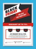Black Friday Flyer, Banner, Poster with modern design stock image
