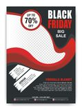 Black Friday Flyer, Banner, Poster with modern design royalty free stock image