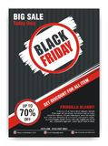 Black Friday Flyer, Banner, Poster with modern design stock photos
