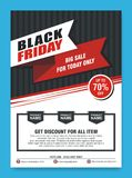 Black Friday Flyer, Banner, Poster with modern design stock photo