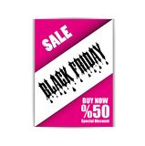 Black Friday Flyer Template, Brochure, Vector, Eps File. Black Friday Flyer Template, Vector, Illustration, Eps File Royalty Free Stock Photo