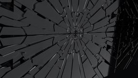 Black friday fracture glass animation, 3d rendering Stock Image