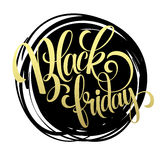 Black friday   golden text  design. Vector Royalty Free Stock Photography