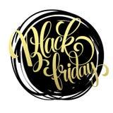 Black friday golden text design. Vector royalty free illustration