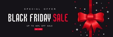 Black Friday, grande vendita, modello creativo su progettazione piana Fotografia Stock