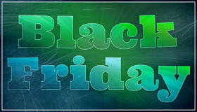 Black friday graphic text illustration Royalty Free Stock Photography