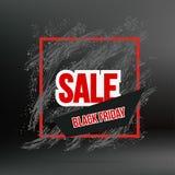 Black friday grunge frame banner on dark Royalty Free Stock Images