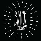 Black friday handdrawn linear inscription. Modern calligraphy si Royalty Free Stock Photography