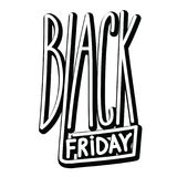 Black friday handdrawn linear inscription. Modern calligraphy si Royalty Free Stock Image