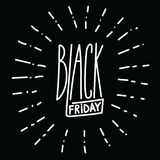 Black friday handdrawn linear inscription.  Stock Image