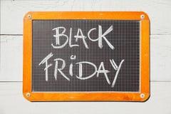 Black Friday handwritten on chalkboard Royalty Free Stock Photos