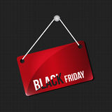 Black friday hanging sign Royalty Free Stock Photos