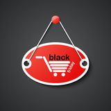 Black friday hanging sign Royalty Free Stock Photography