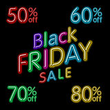 Black friday hanging sign. Vector Illustration, eps10, contains transparencies. Stock Photography