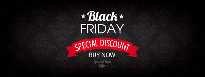 Black Friday Header Wallpaper Ornaments Royalty Free Stock Photo