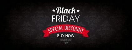Black Friday Header Wallpaper Ornaments Royalty Free Stock Images