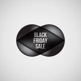 Black Friday-het Kenteken van de Verkoopbel Stock Foto's
