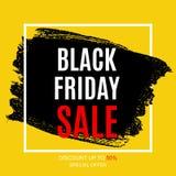 Black Friday-het Malplaatje van het de Bannerontwerp van de Verkoopinschrijving Vector illustratie Royalty-vrije Stock Afbeelding