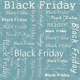 Black Friday-het Ontwerp met Teal Dollar Sign Tile Pattern herhaalt Bedelaars Stock Afbeelding