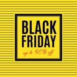 Black Friday-het ontwerp van de Verkoopaffiche Royalty-vrije Stock Foto's