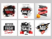 Black Friday-het ontwerp van de verkoopbanner met gescheurd patroon en abstract g vector illustratie