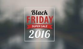 Black Friday-het ontwerp van de verkoopinschrijving Stock Foto
