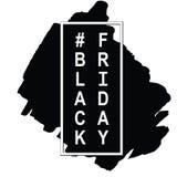 Black Friday-het ontwerpmalplaatje van de verkoopinschrijving Royalty-vrije Stock Afbeeldingen