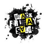 Black Friday-het pictogram van de Verkoopvlek Witte achtergrond Stock Foto