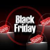 Black Friday-het Winkelen Zak stock illustratie