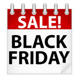 Black Friday Icon. An illustration of a calendar icon advertising Black Friday. Shadow placed on separate layer Stock Photo